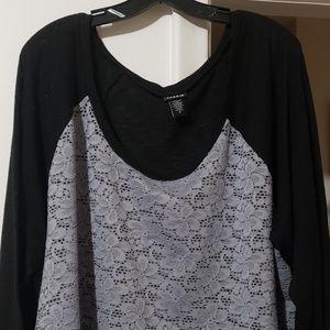 Torrid size 4 Lace Front Shirt